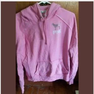 Victoria's Secret Pink Pull-over Hoodie Large